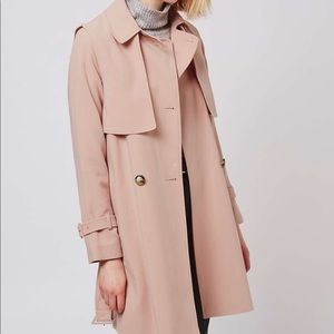 Dusty Pink Topshop Trench Coat